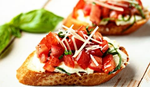 garlic tomato brushetta