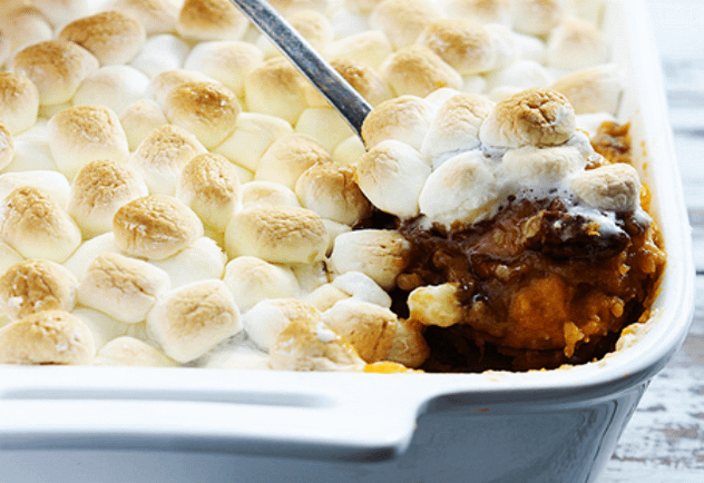 candied yams and pecans