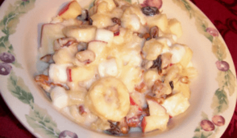 banana apple raisin salad