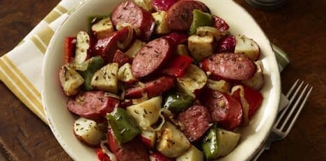sausage green beans and potatoes