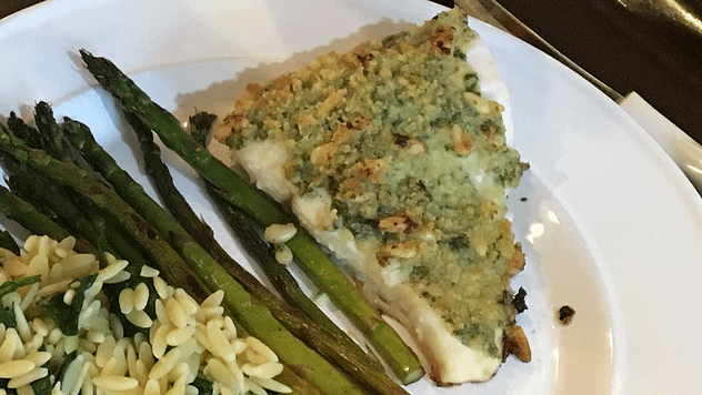 baked fish with pesto