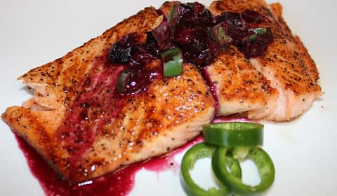 pan fried salmon